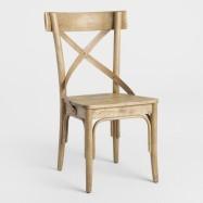 Light Walnut Finish Bistro Side Chairs, 4