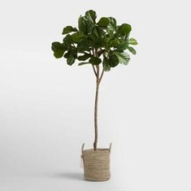 6 Foot Faux Fiddle Leaf Fig Tree